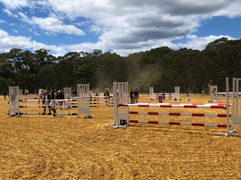 GeoPro Footing installed for Stonewall Showjumping Competition