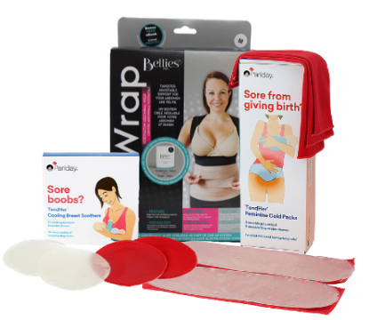 Hosptial_essentials_bundle_with_pregnancy_wrap_and_breast_soothers_and_perineal_soothers
