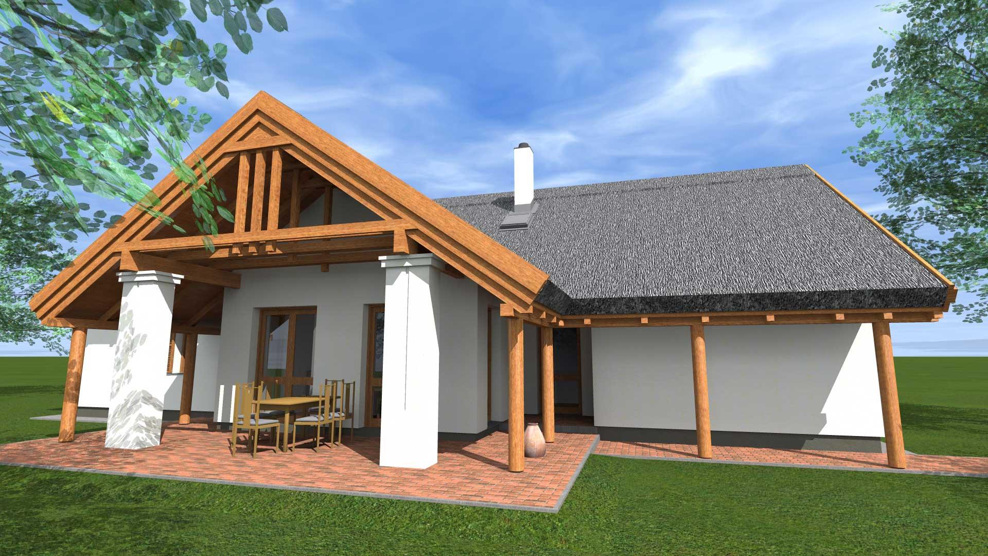 Népies hagyományos ház tervezése