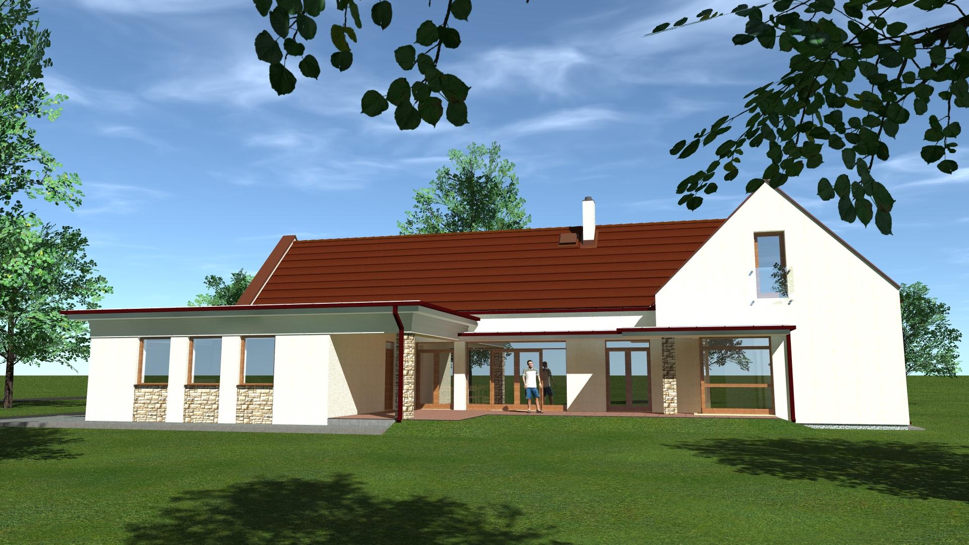 Kertes családi ház tervezése