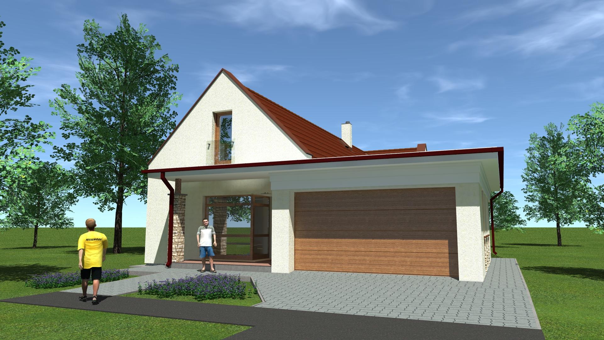 Kertes családi ház tervezés