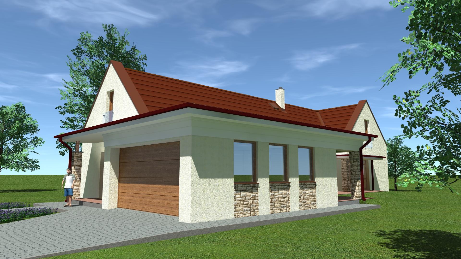 Építészmérnök, kertes családi ház