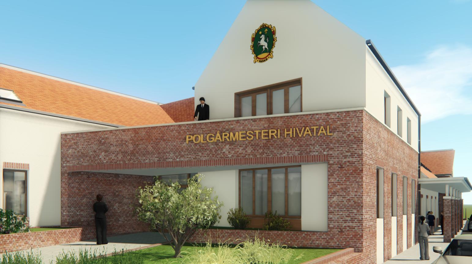 Polgármesteri hivatal építészmérnöki tervezése Vasad