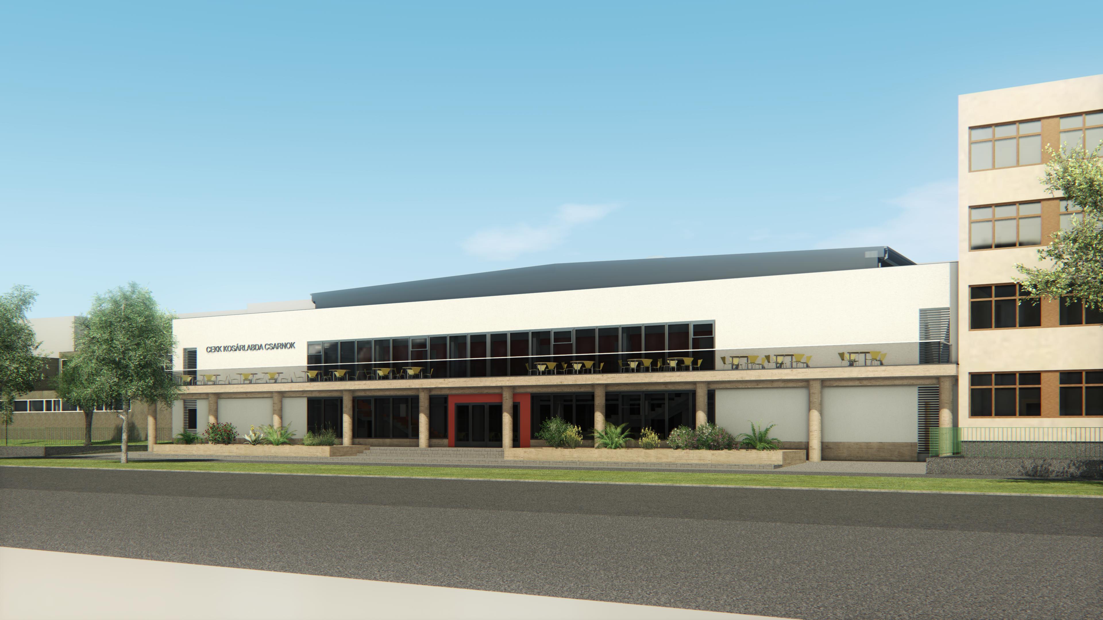 Kosárlabdacsarnok tervezése Cegléden