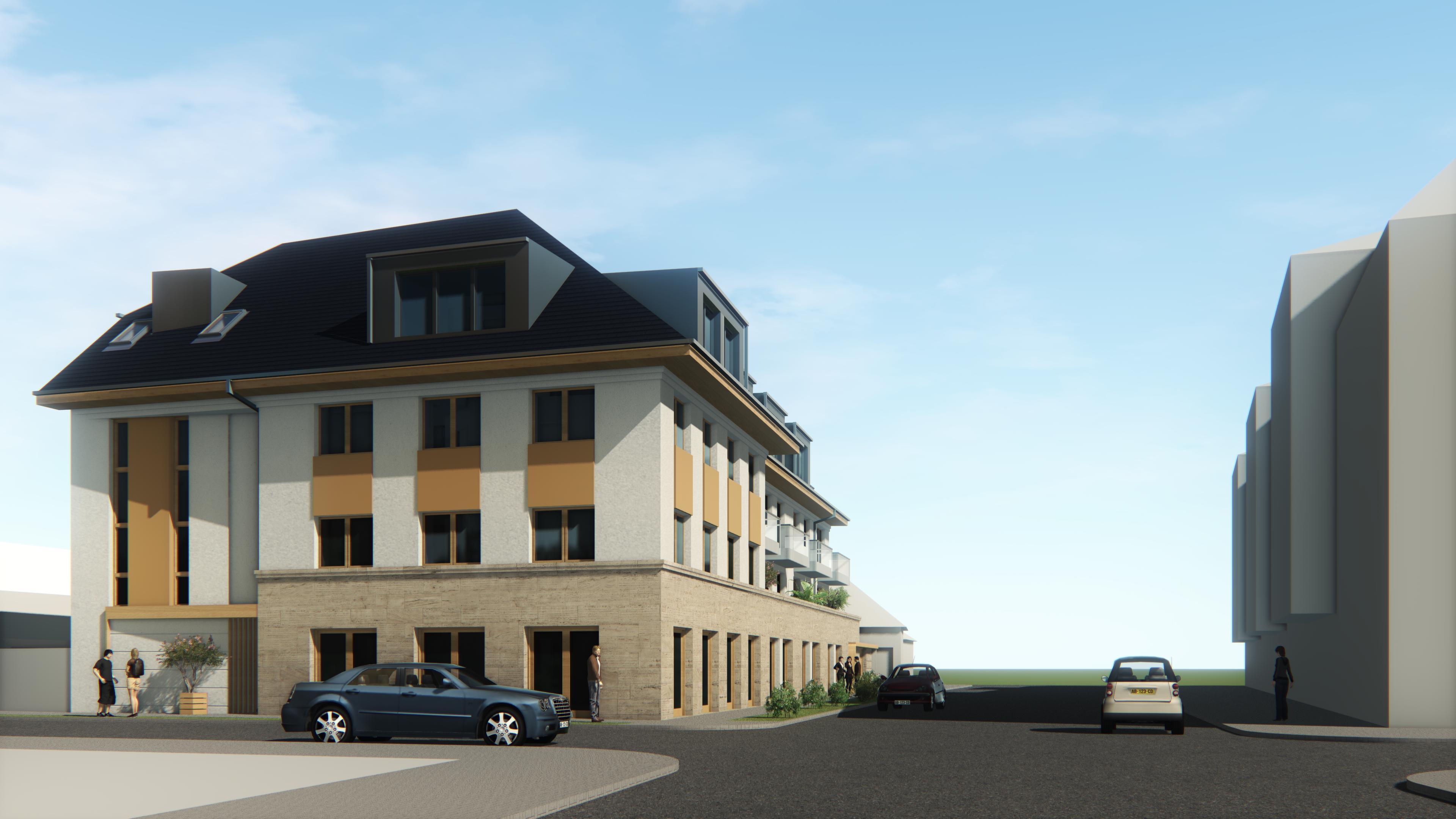 18 lakásos társasház Cegléd, építészeti tervezés
