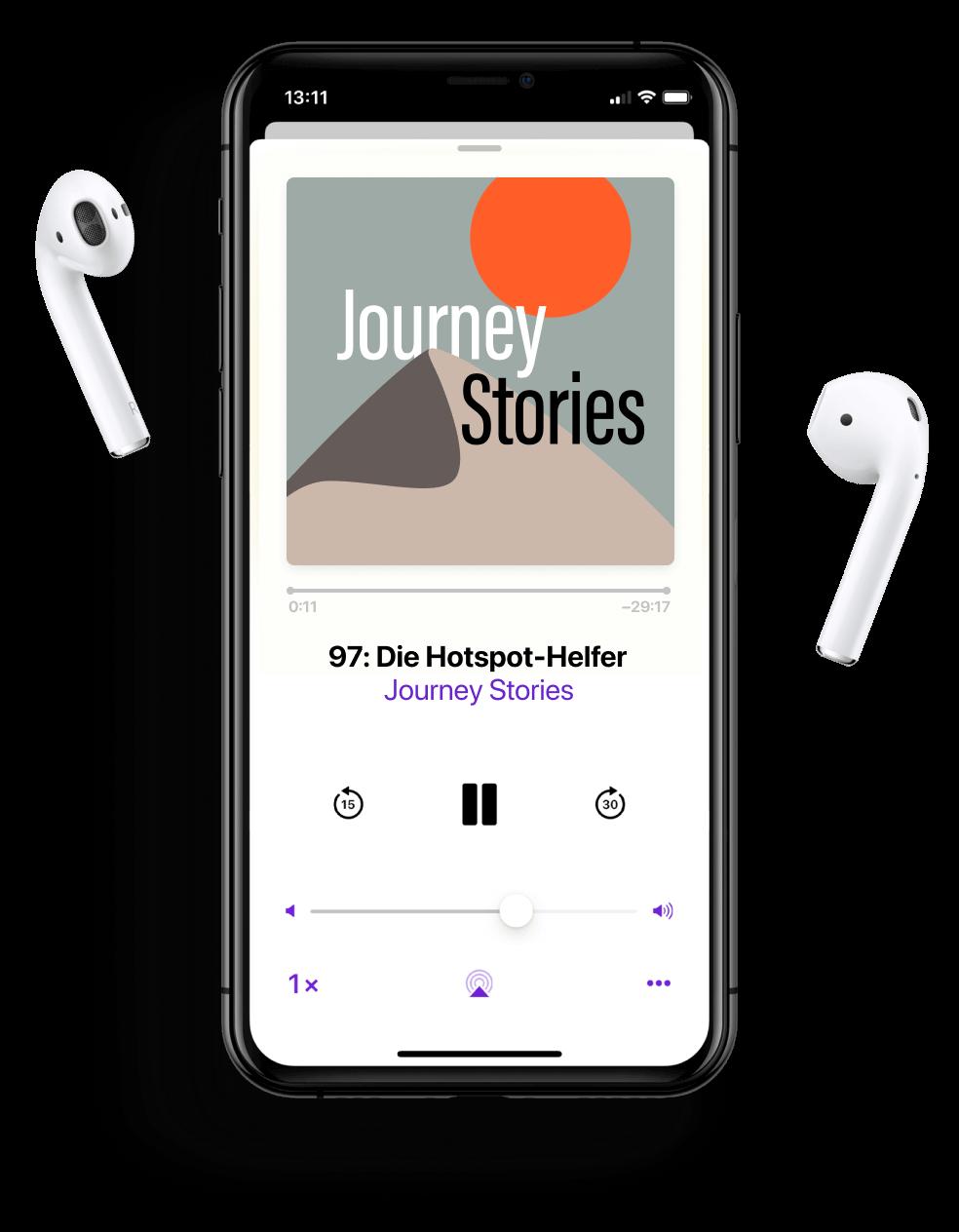 Der Journey Stories Podcast auf Apple Podcasts App