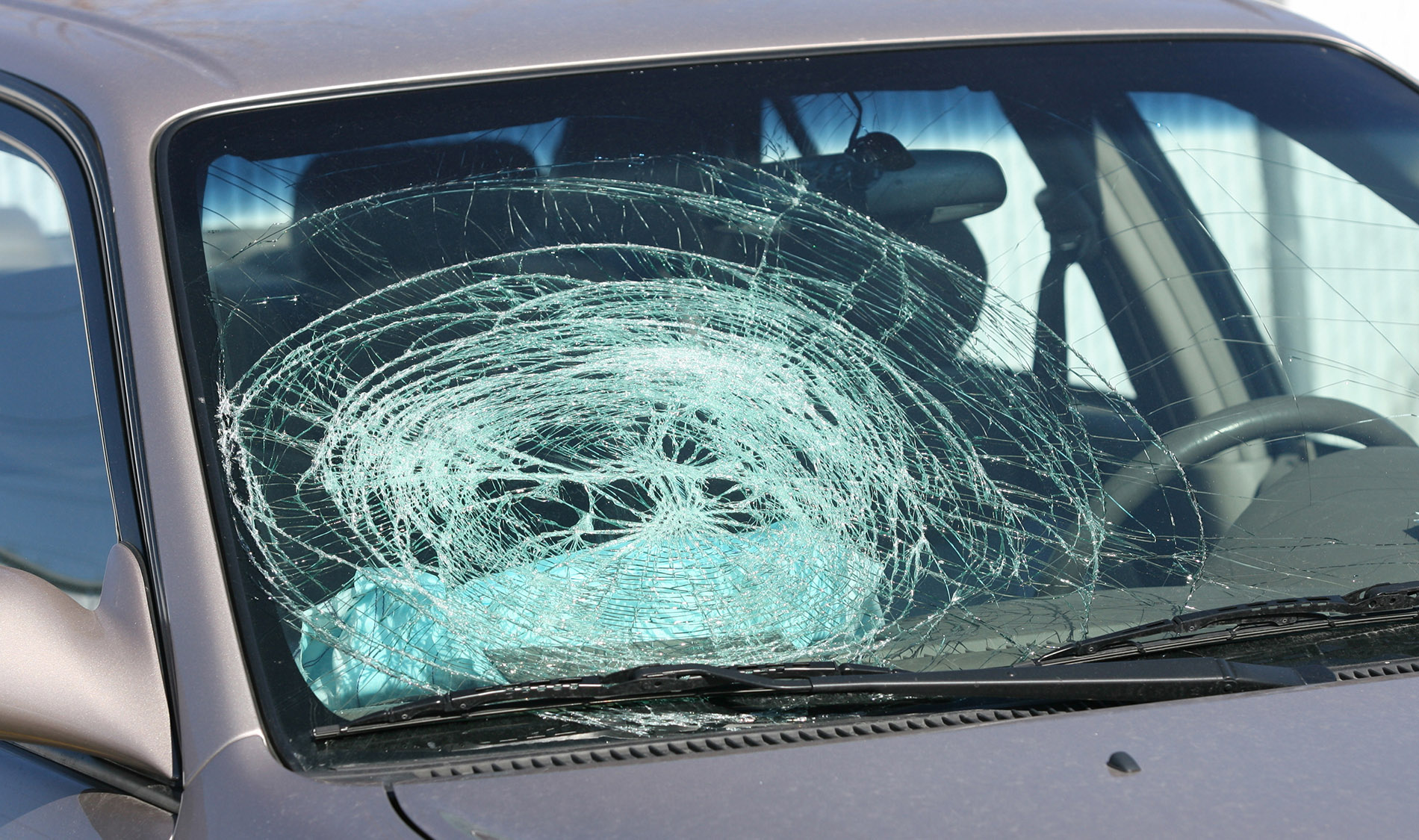 Broken Tractor Windshield : A broken windshield auto glass repair replacement