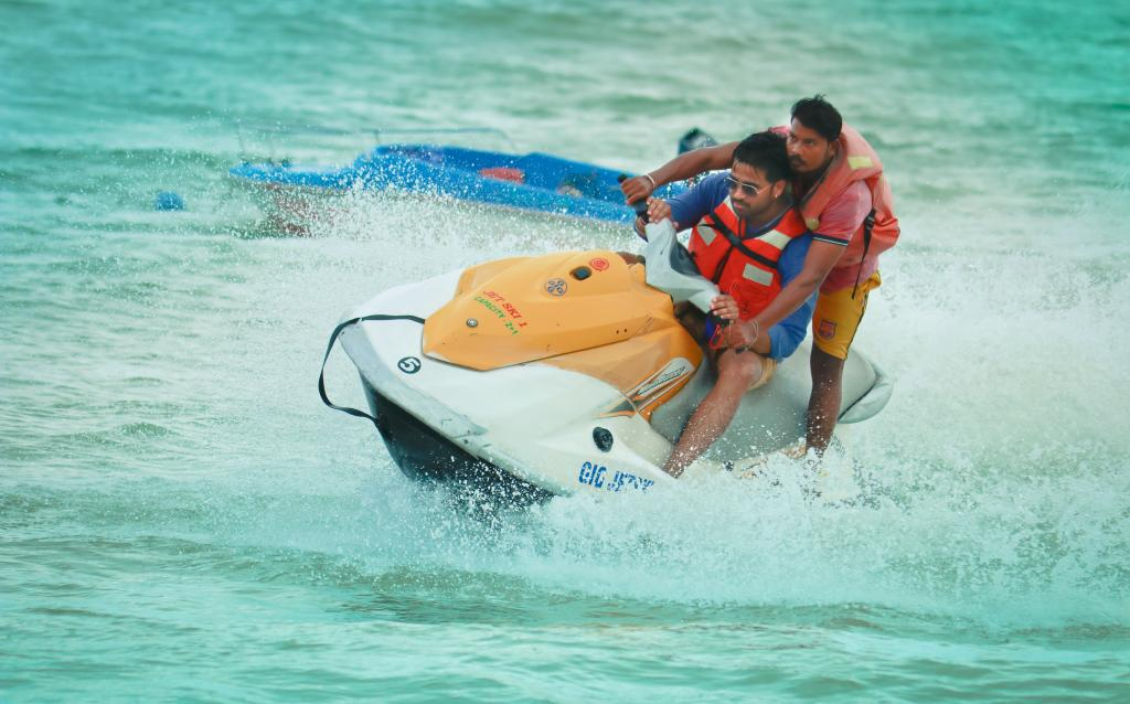 Jet skiing in Water sports complex, Port Blair