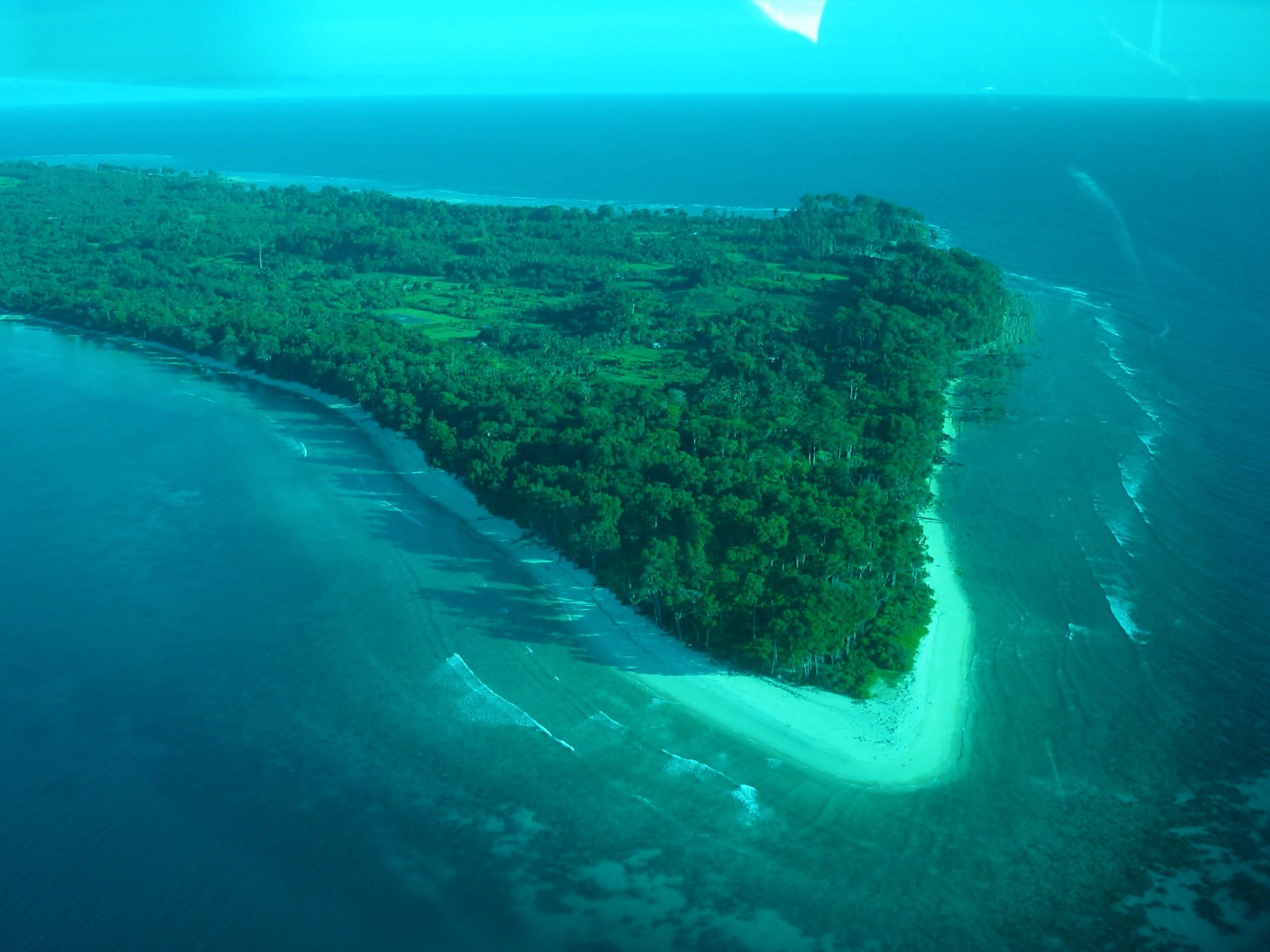 Aerial view of the Neil Island
