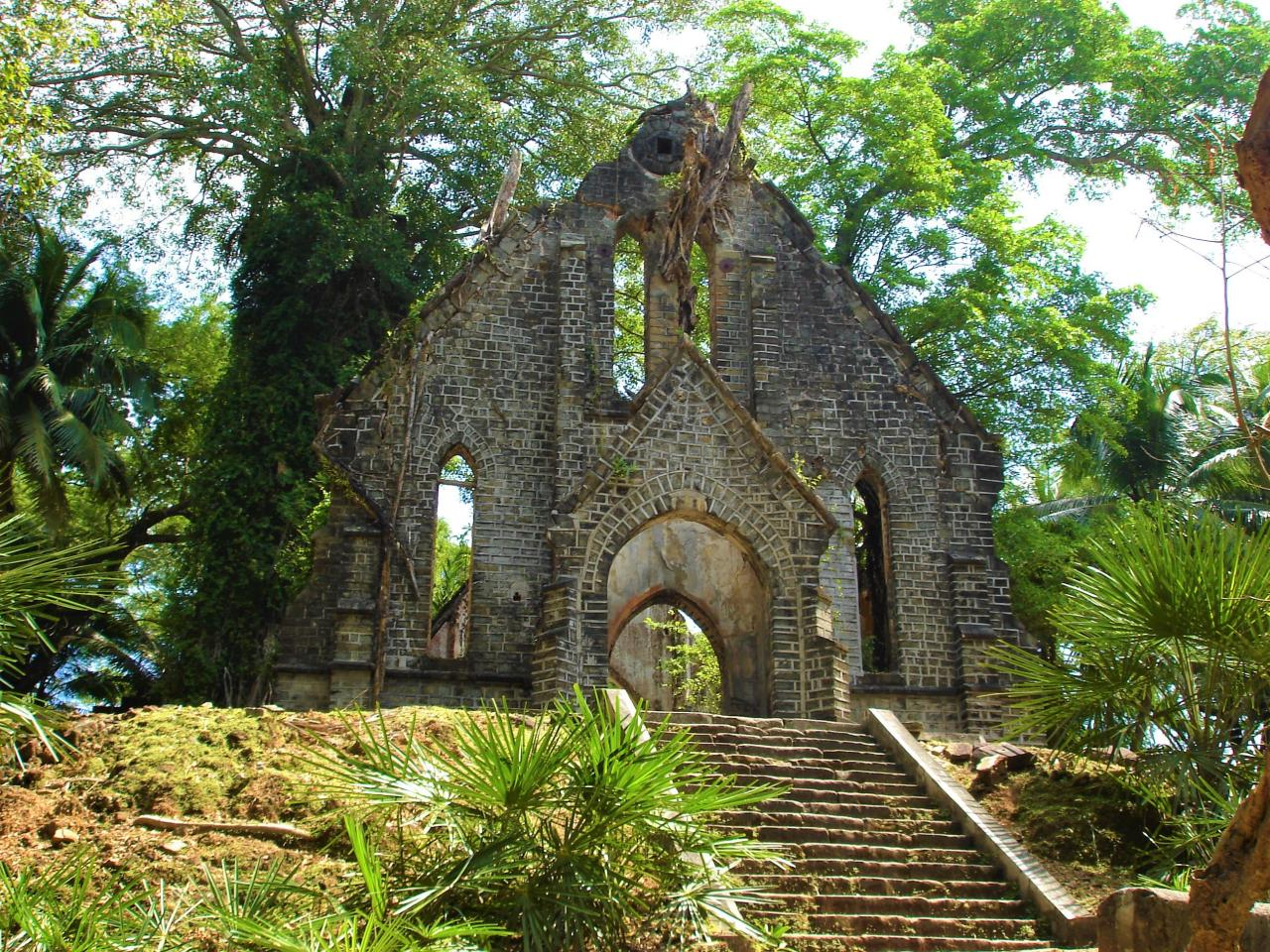 Old Church at Ross Island, Andaman