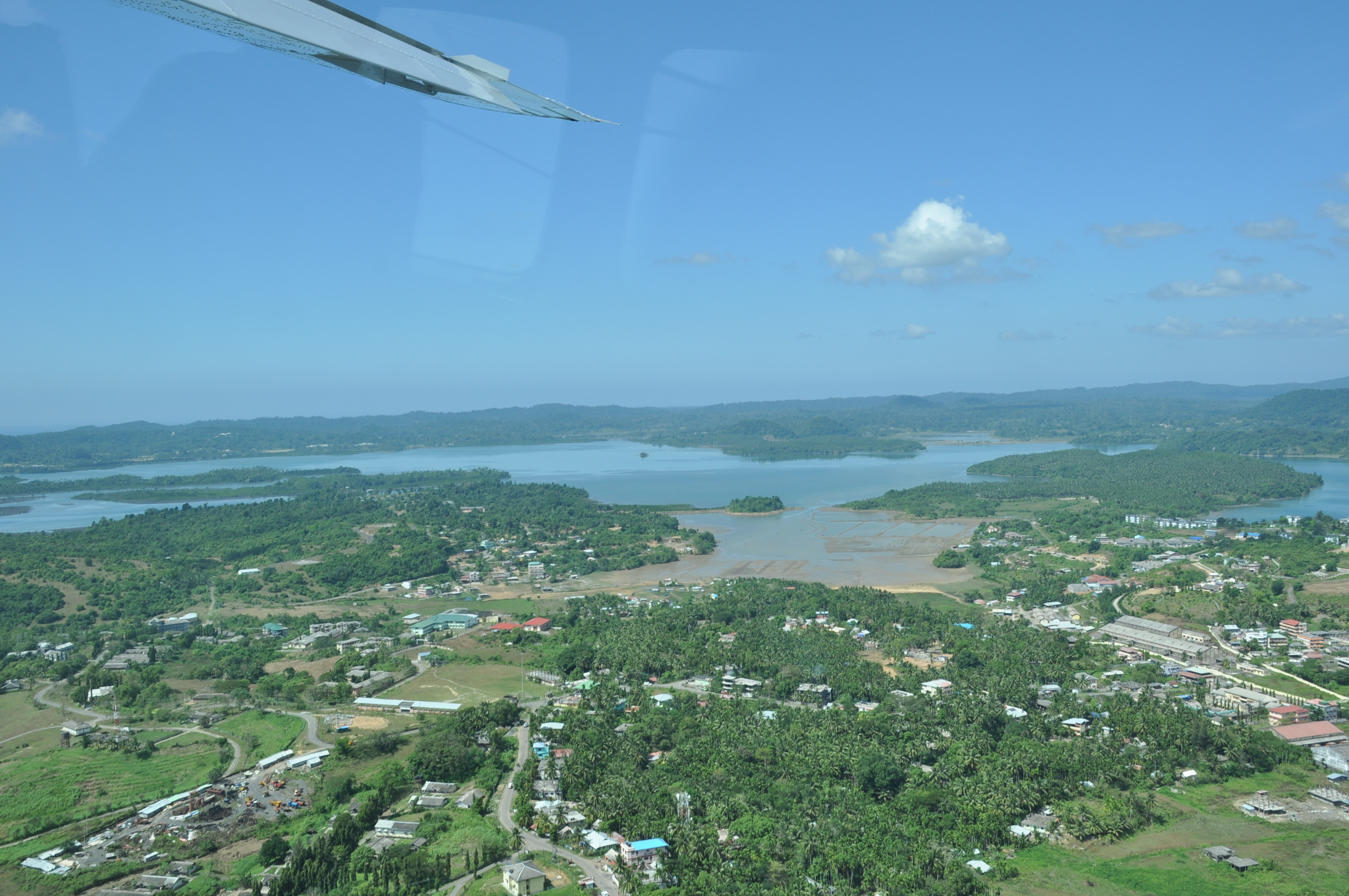 Aerial View of Diglipur, North Andaman Islands