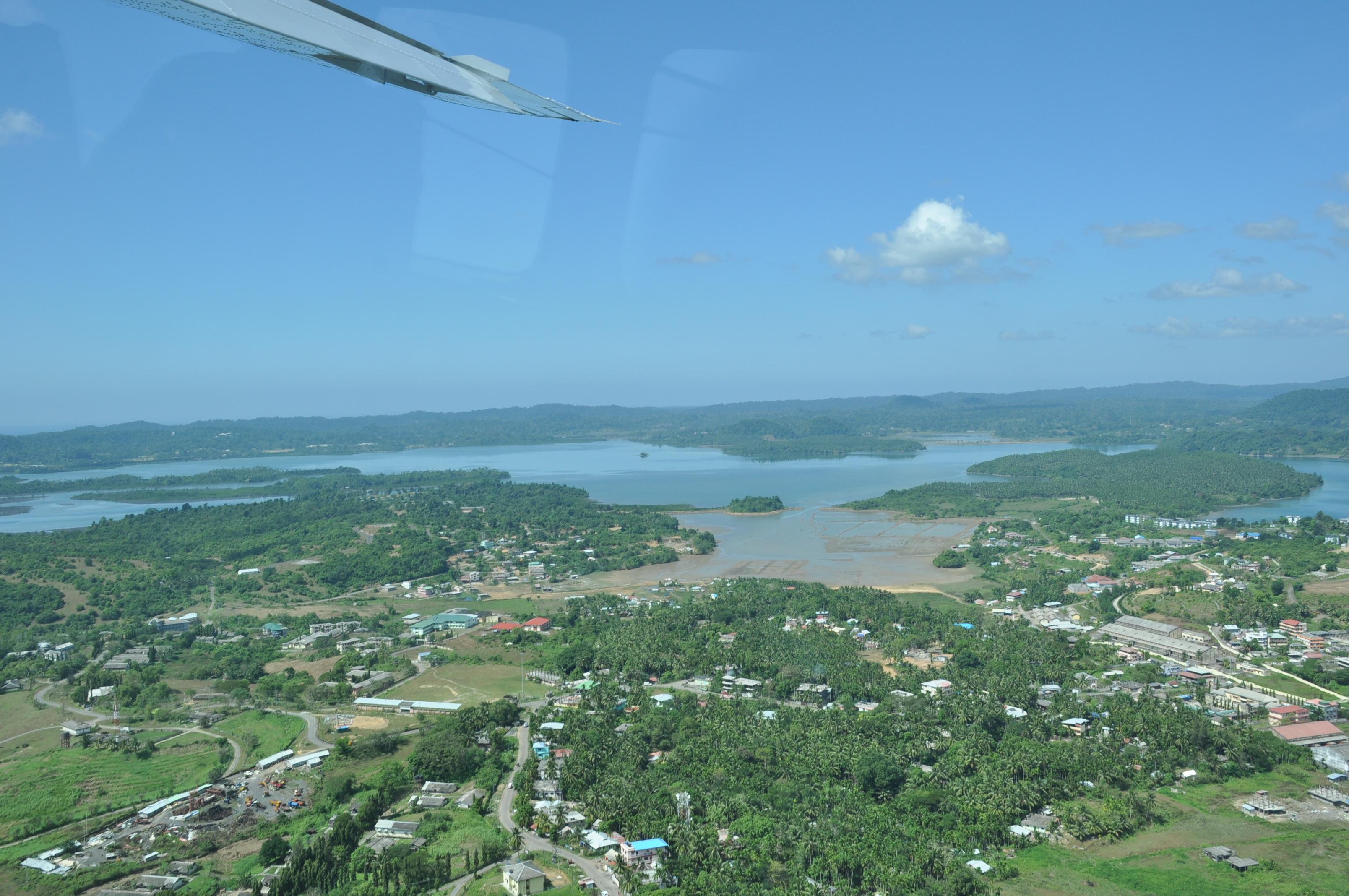 Aerial View of Diglipur, North Andaman Islands