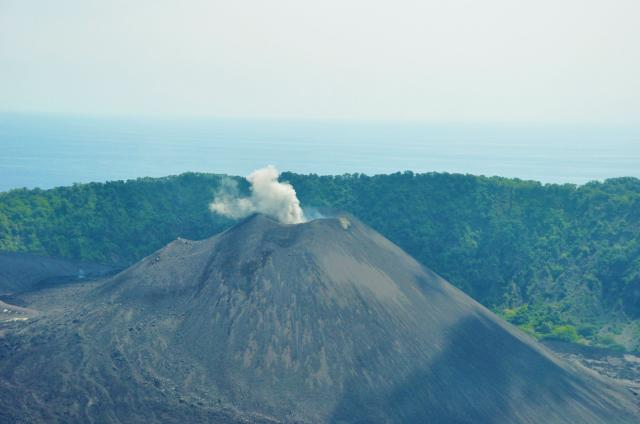Barren Island Aerial View, North Andaman