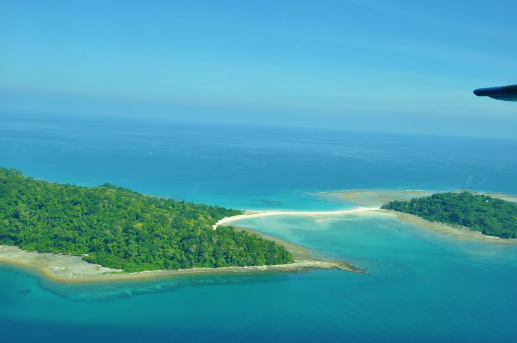 Ross and Smith Island, Aerial View, North Andaman Islands