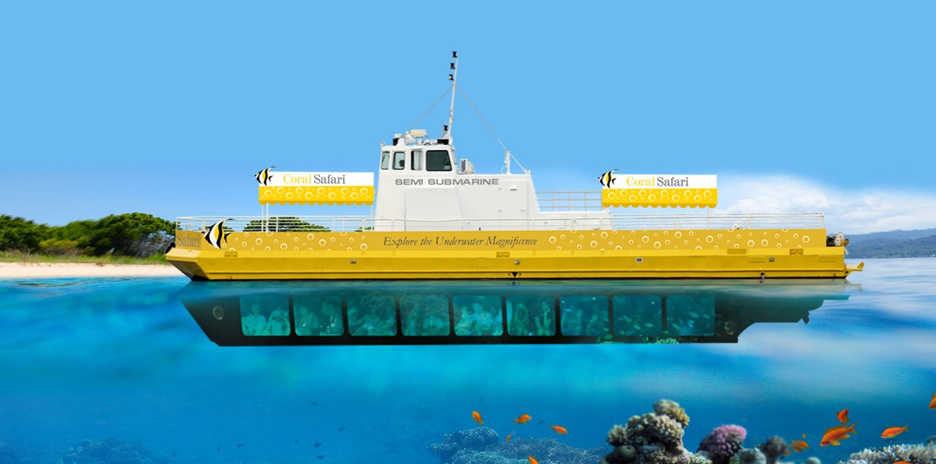Illustrative photo of the semi submarine by coral safari, North Bay Island