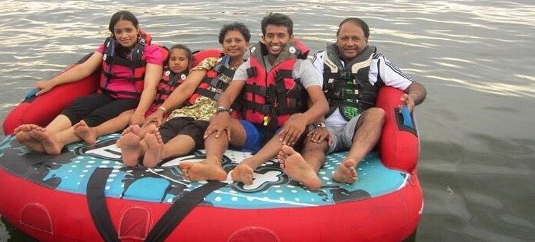 Family enjoying Sofa Ride in Andaman