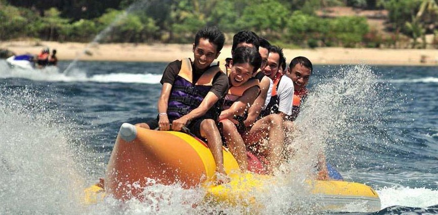 Banana ride in Andaman