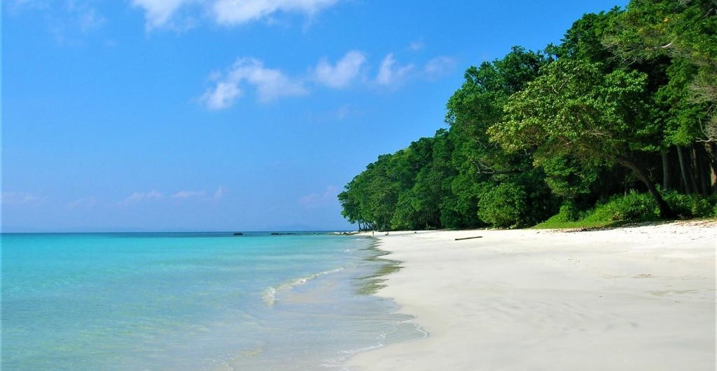 Haelock Island, in Andaman