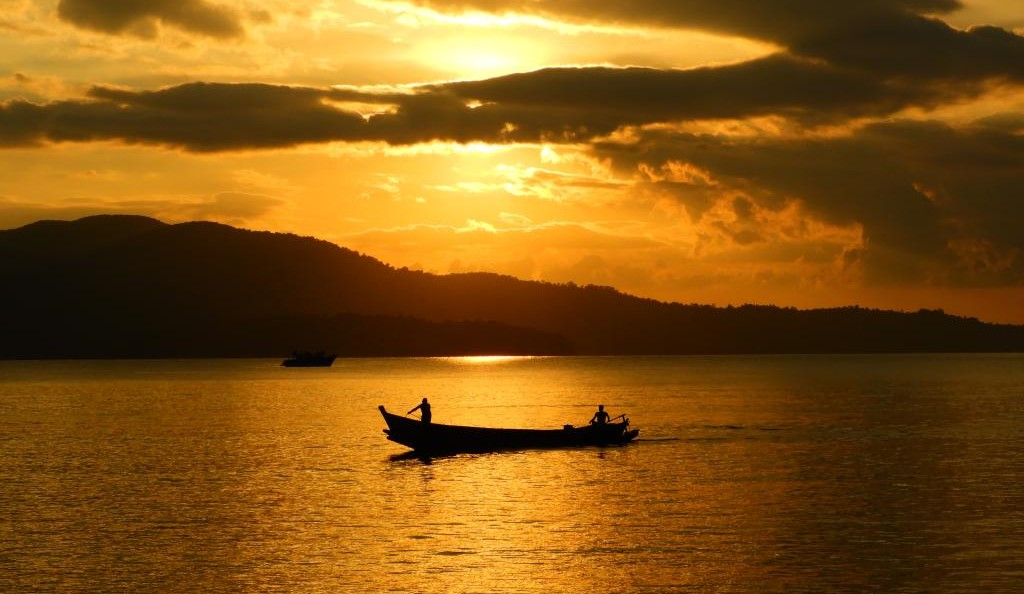 Sunset at Chidiyatapu, Port Blair