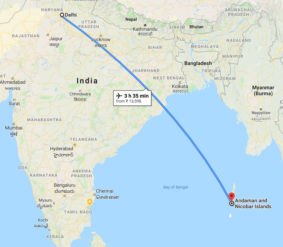 New delhi to Andaman