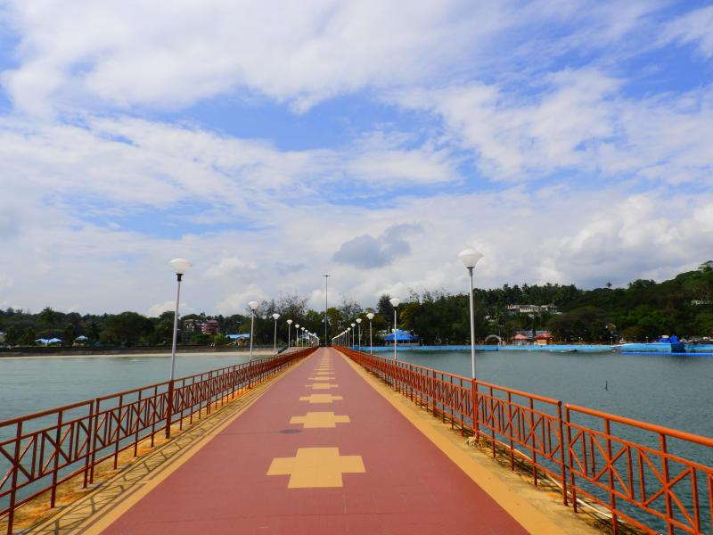 Walking path inside the Rajiv Gandhi Water Sports Complex