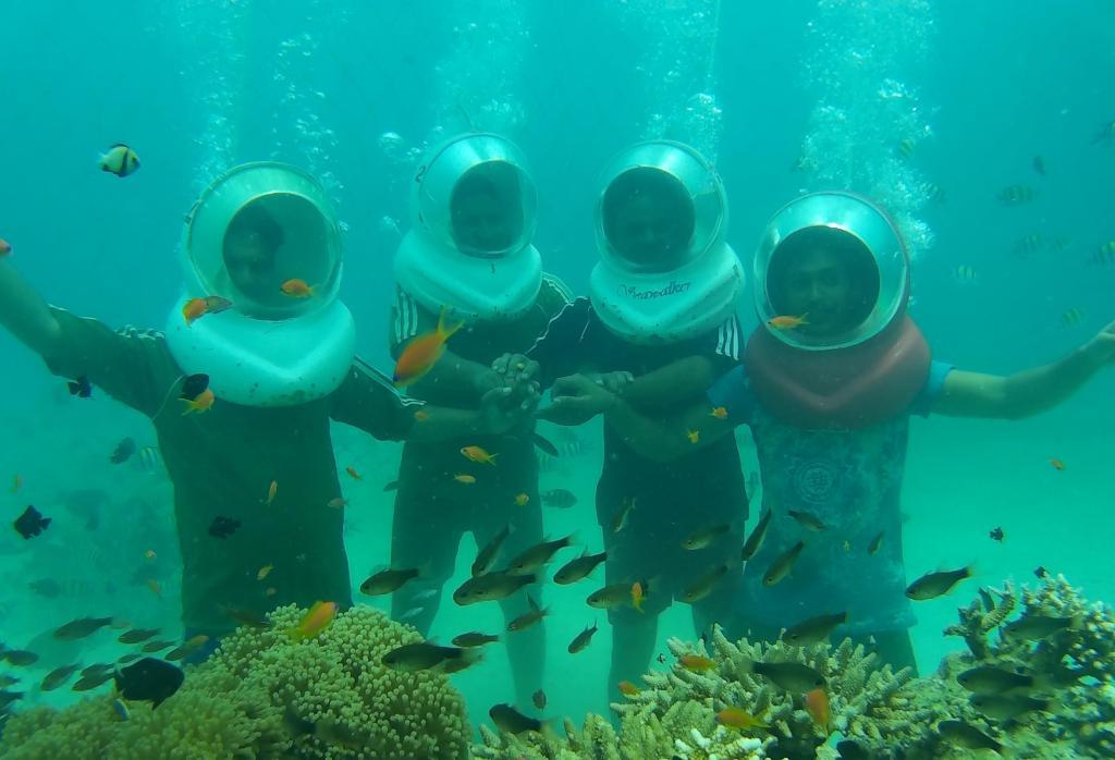 Group of people Sea Walk in Havelcok, Andaman Islands