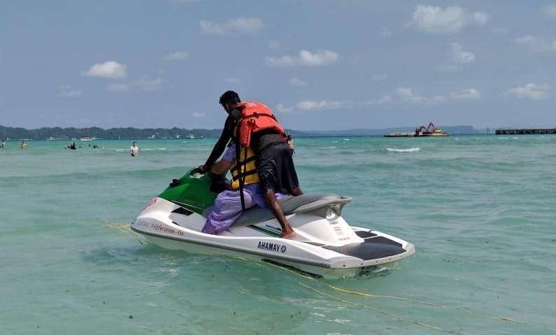 Jet Skiing at Bharatpur Beach, Neil Island