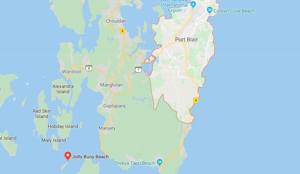 Jolly Buoy location on Map