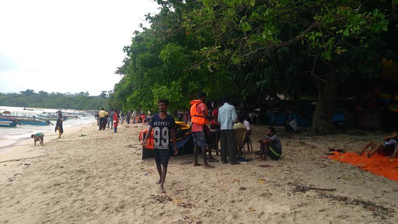 Bharatpur Beach trees and shades