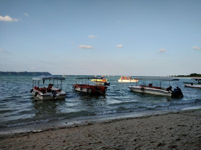 Fishing boats at Bharatpur Beach