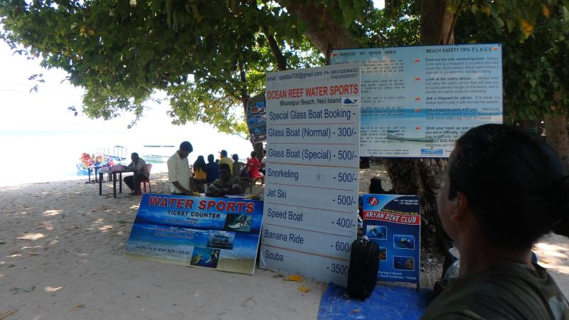 Snorkeling and water sports counter at Bharatpur Beach