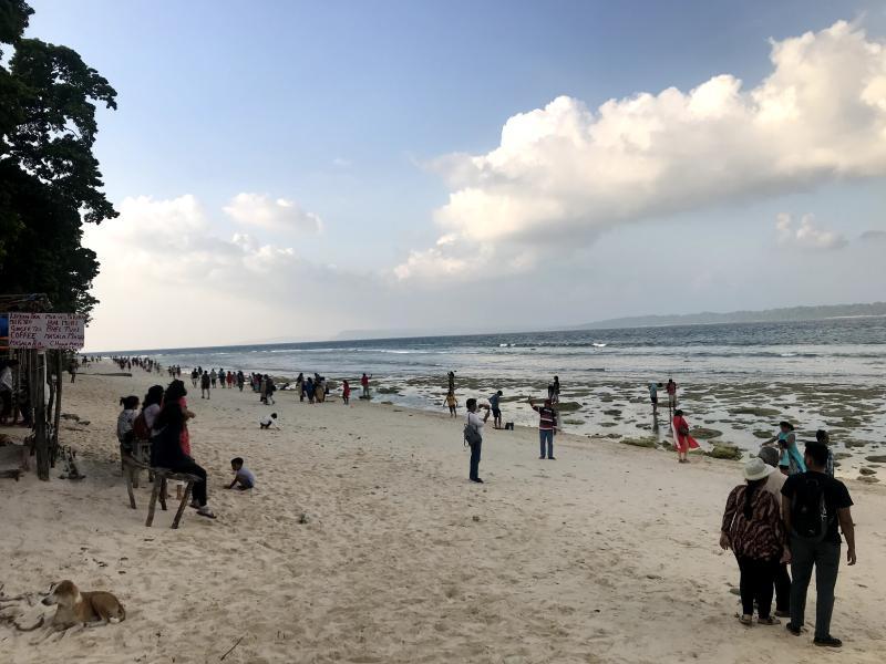 Laxmanpur beach wide view