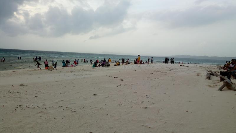 Laxmanpur beach in the evening