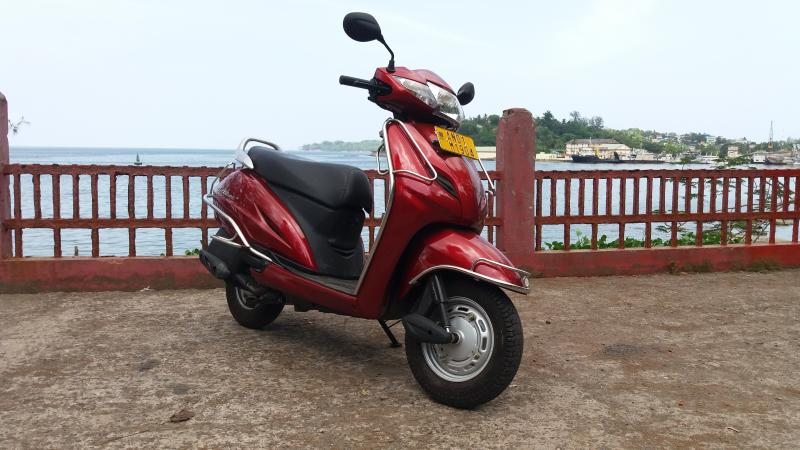 Rented Honda Activa in Port Blair