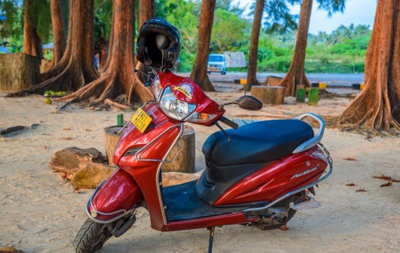 Honda Activa rented Bike in Havelock Island