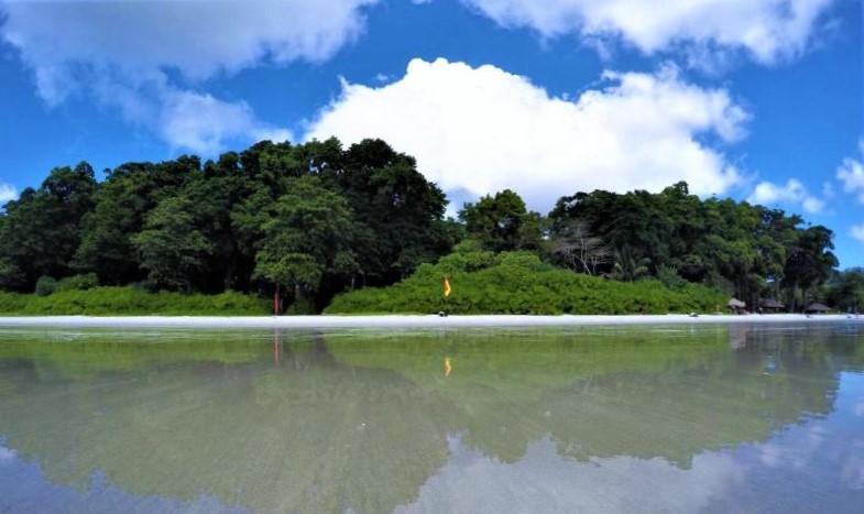 Radhanagar Beach Shoreline and Water