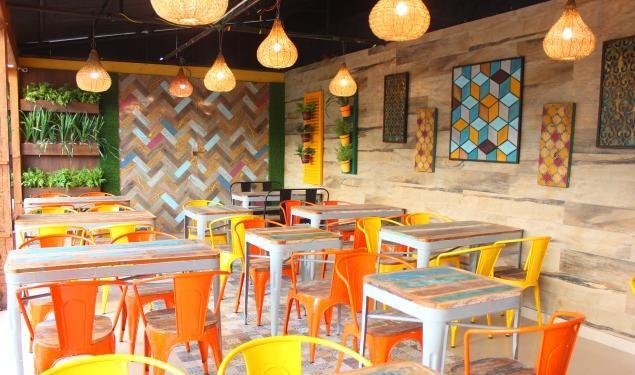 The Blue Cafe near Radhanagar Beach