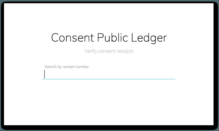 clym consent receipts public ledger