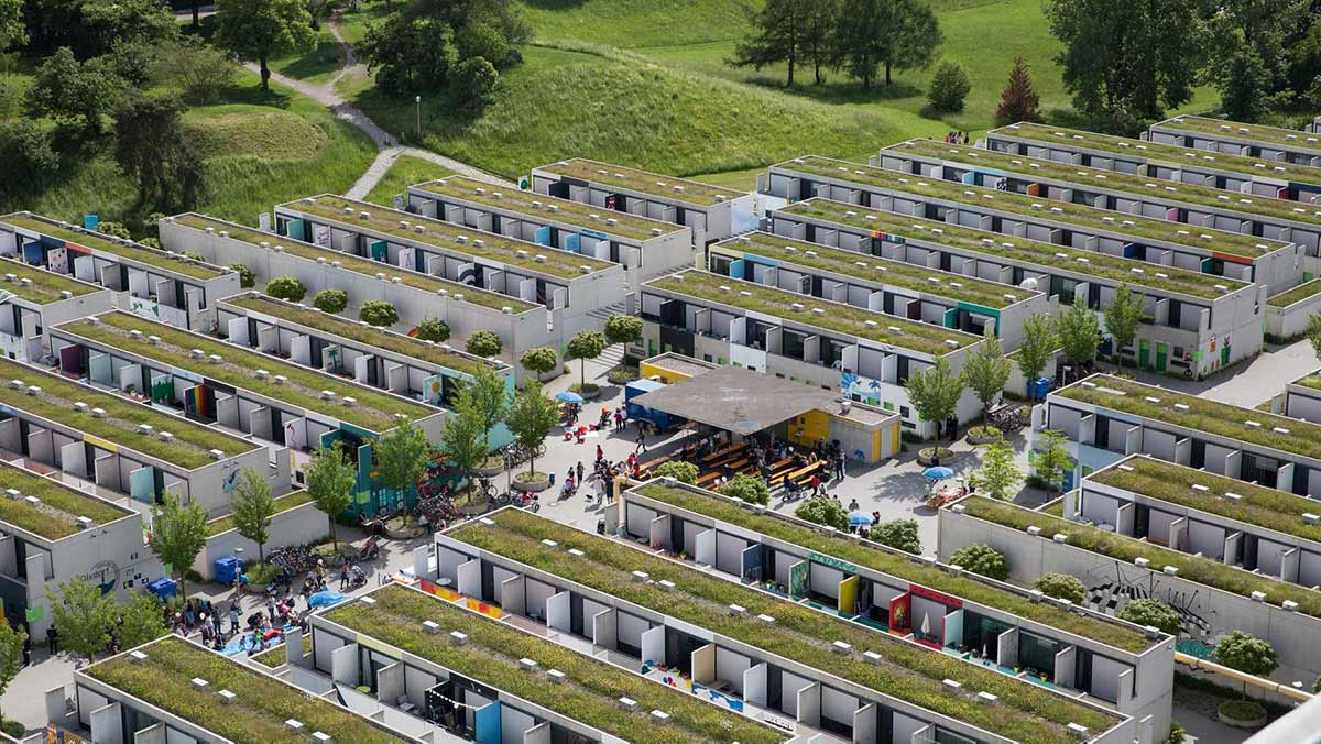 olympic village germany student accomodation from the air