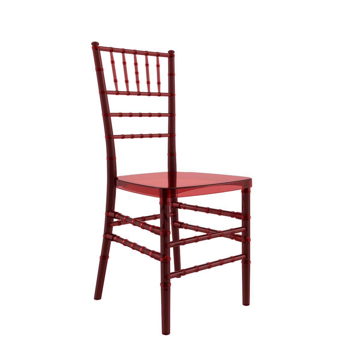 Cadeira Tiffany Cristal Vermelha