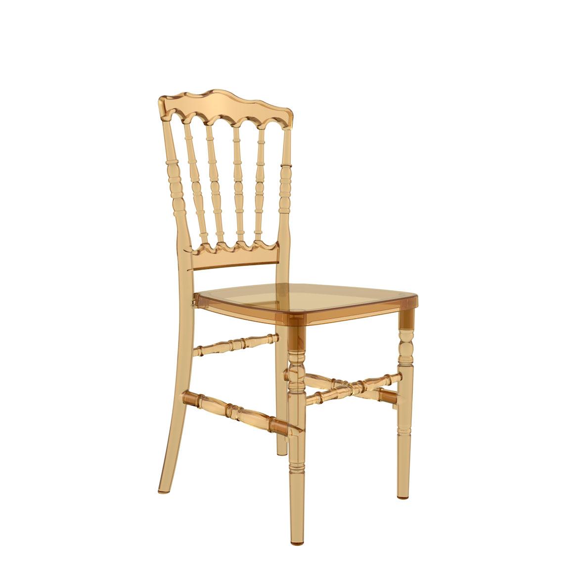 Cadeira Dior Cristal Âmbar