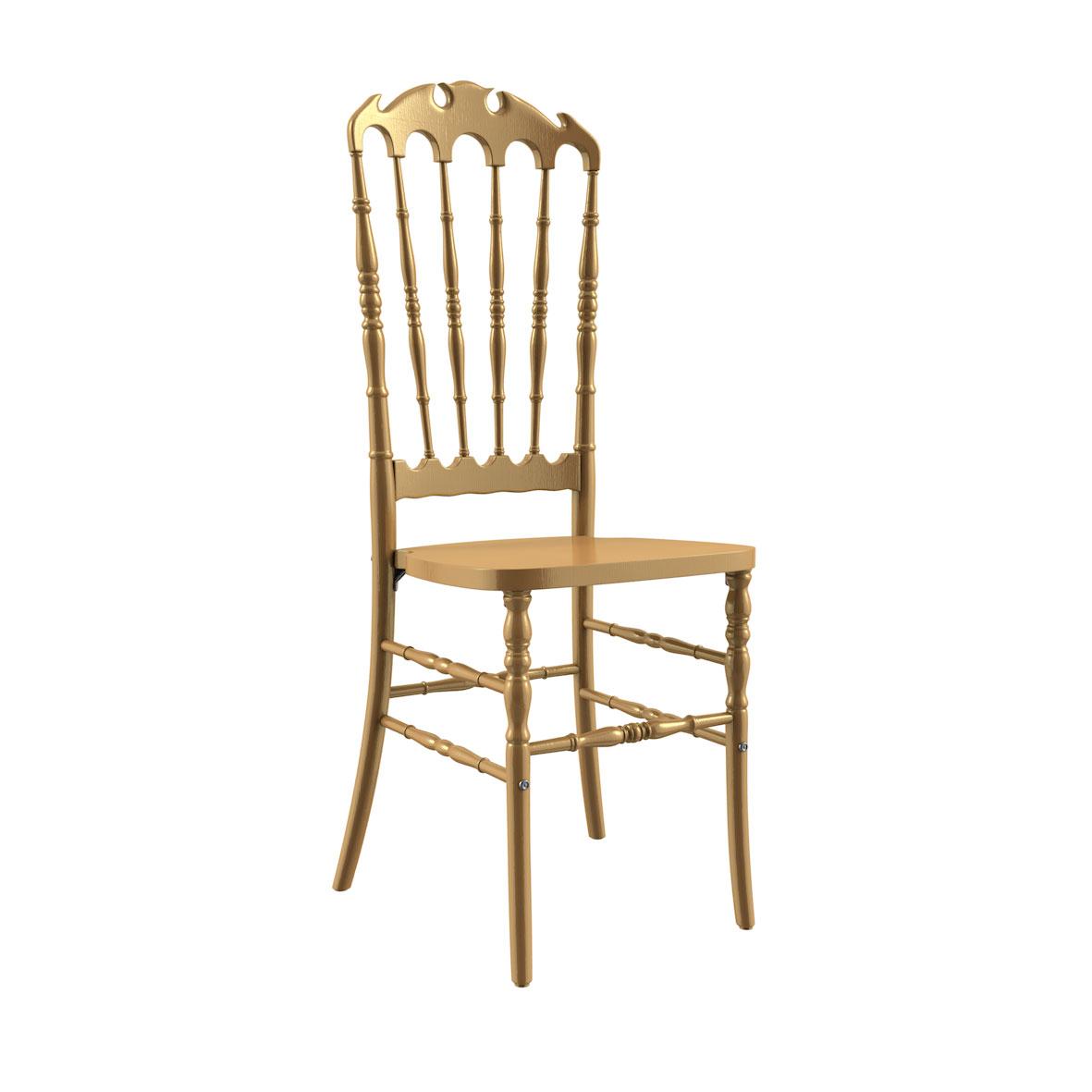 Cadeira Royal Madeira Dourada