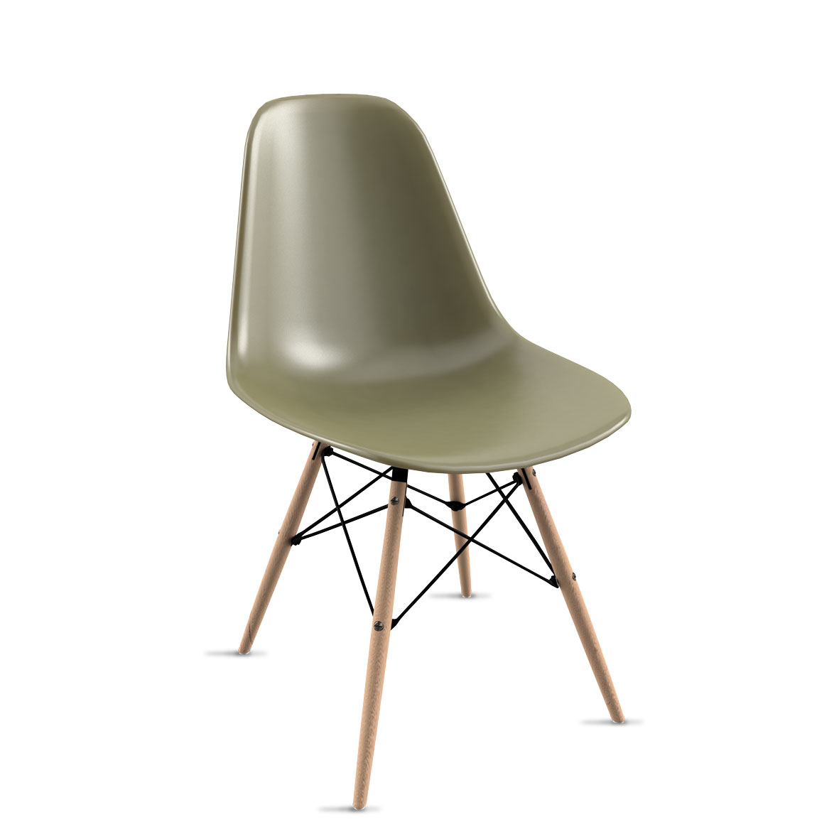 Cadeira Eames Verde Musgo