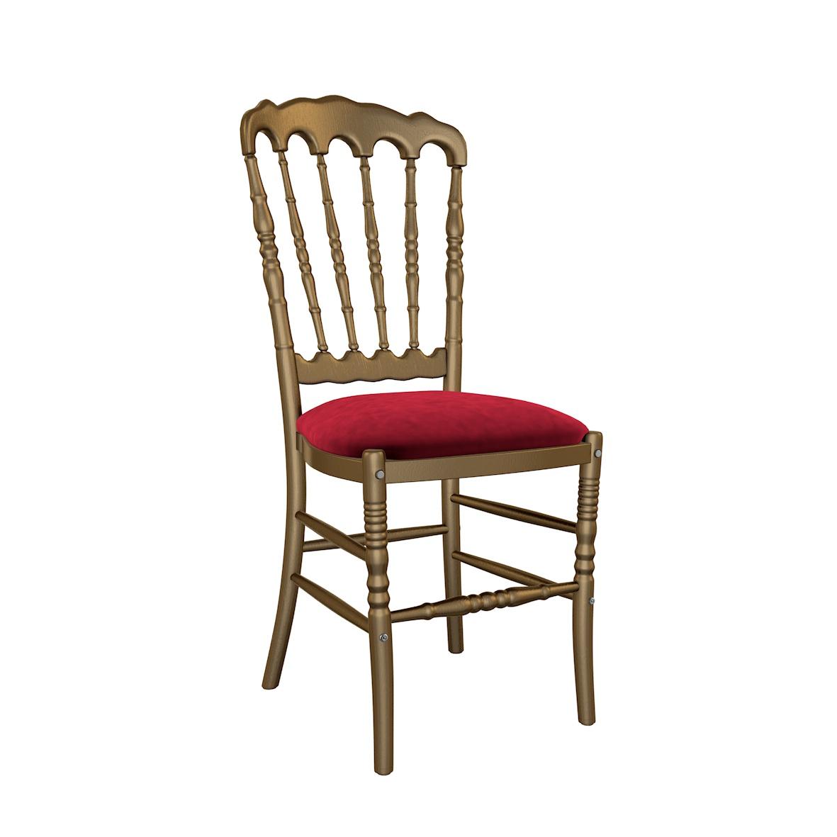 Cadeira Crown Madeira Dourada