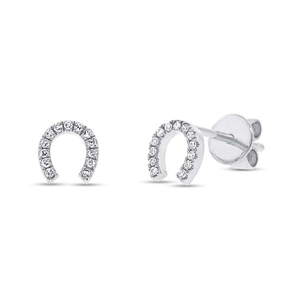 Diamond Horseshoe Earrings