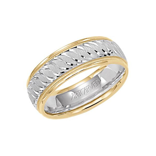 Men S Gold Engraved Wedding Band Henry Wilson Jewelers Syracuse Ny