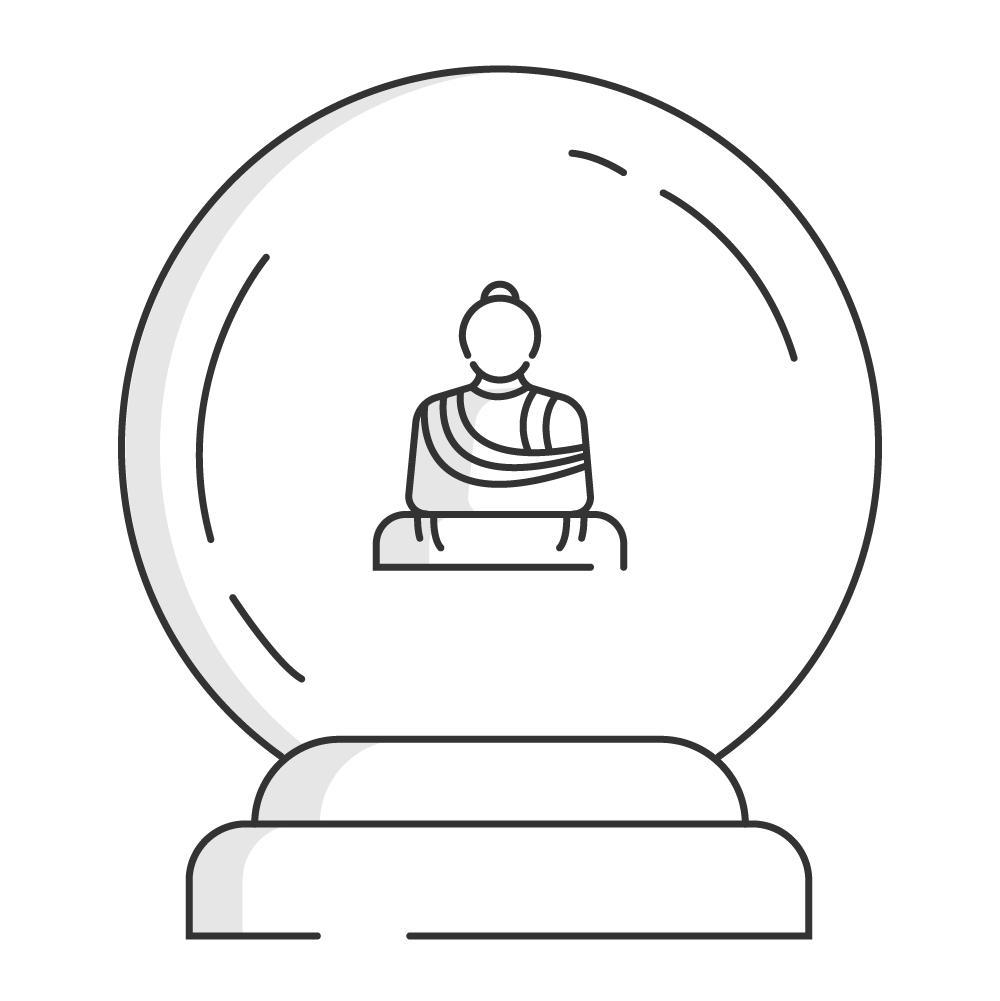 Vision - Buddha in crystal ball