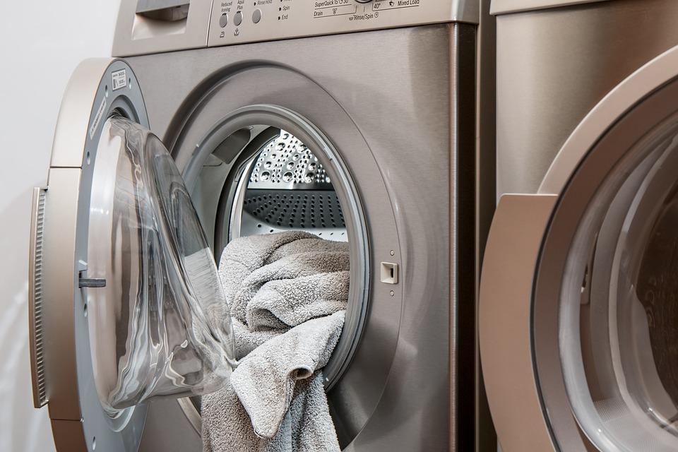 towels in a washing machine
