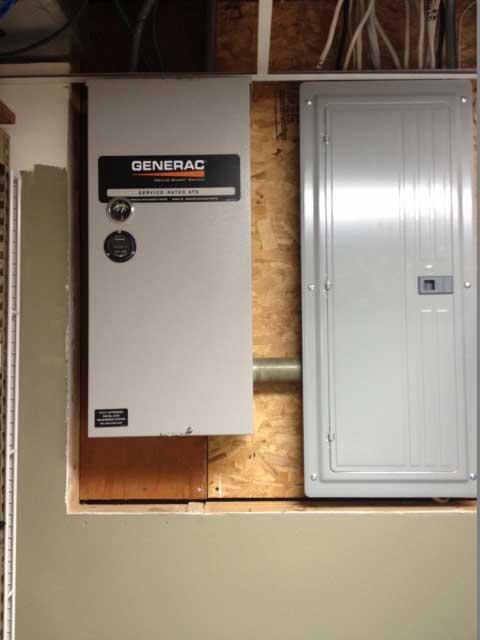 Indoor Generac Control Panel