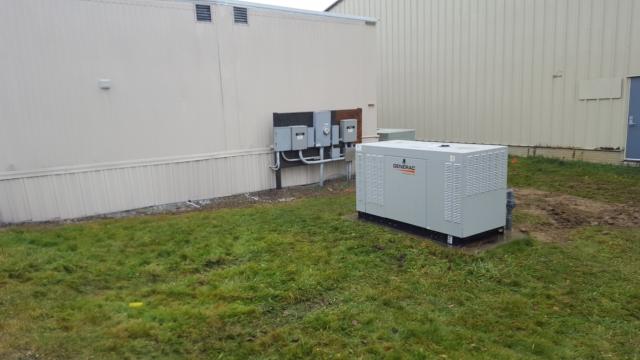 New Generac 48kw replaced an old 36kw diesel Kohler generator for airport Medevac building